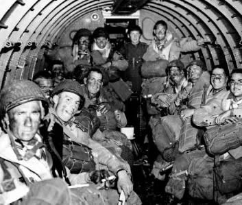 Paratroopers on the way to Normandy