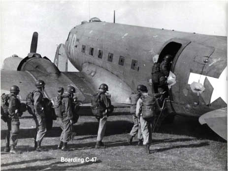 Paratroopers Board a C-47 Skytrain